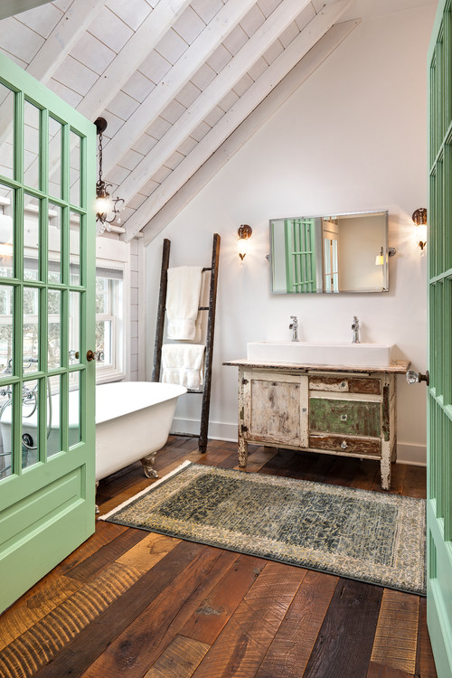 French doors to inspire you town country living for French farmhouse bathroom ideas