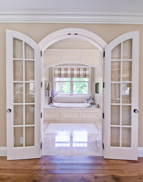 French doors to inspire you town country living for Small double french doors