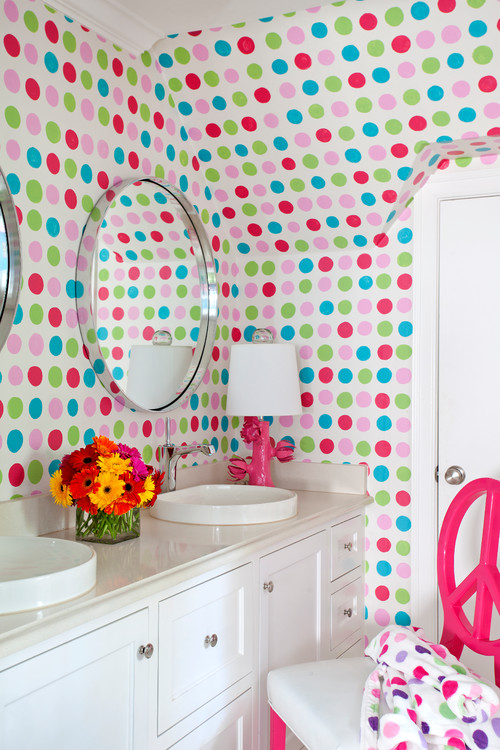 Fun Polka Dot Bathroom