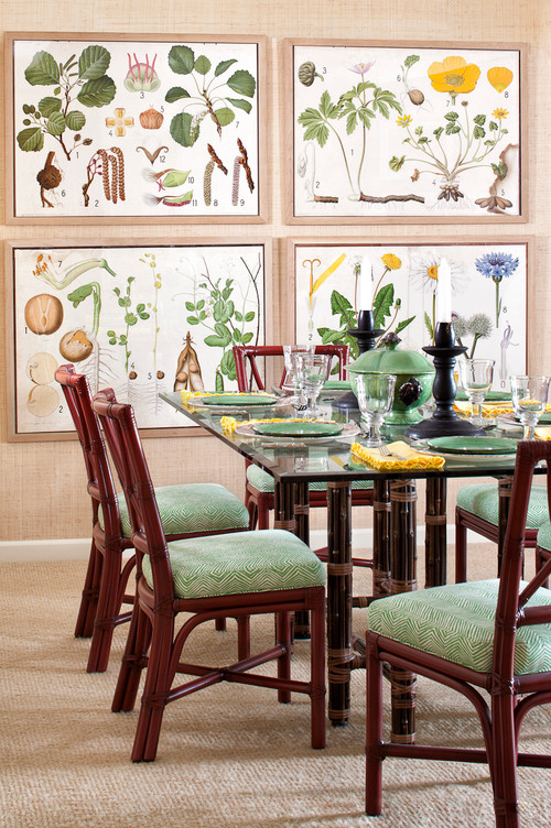 Etonnant Traditional Dining Room In Tropical Style