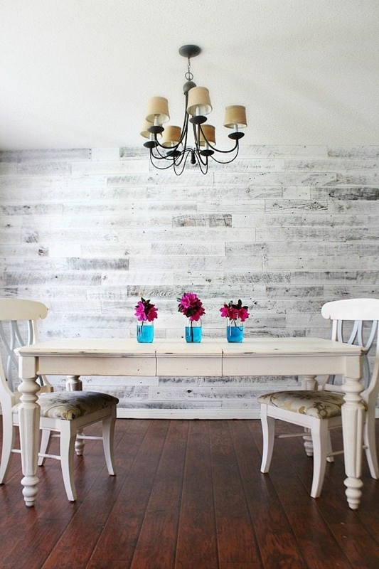 White Washed Barn Wood Wall