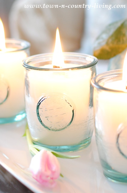 DIY Scented Glass Jar Candles