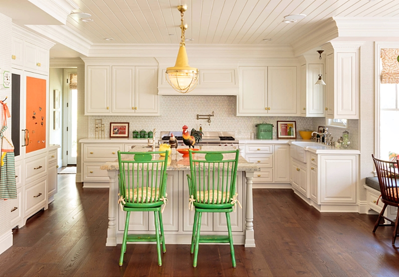 Cottage Kitchen with Colorful Accents