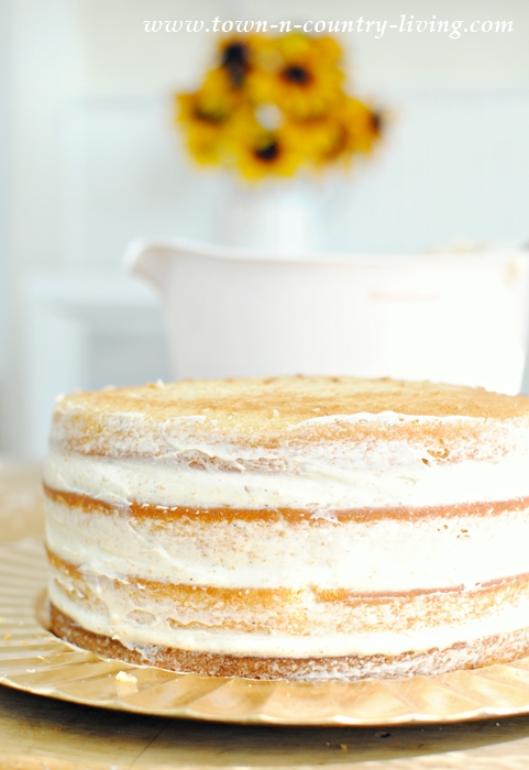How to frost a naked cake