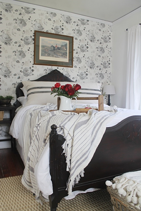 Master Bedroom with Antique Bed