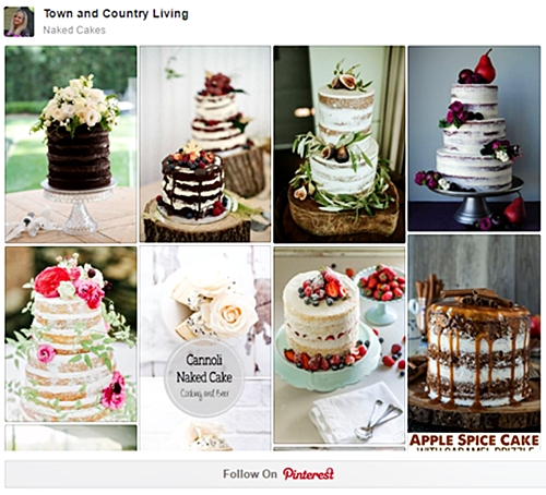 Naked Cakes Pin Board