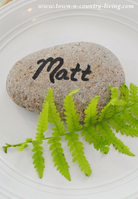 Rock Place Card for Everyday Table Setting