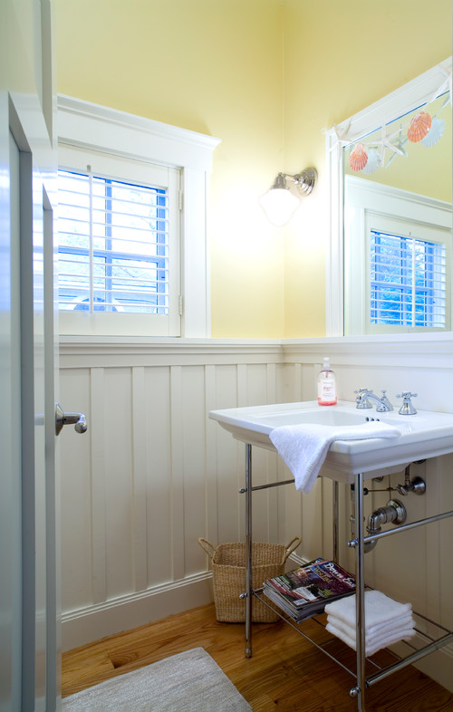 Powder Room with Board and Batten