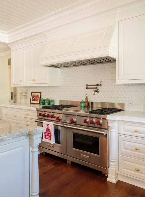 Industrial Stove in Cottage Kitchen