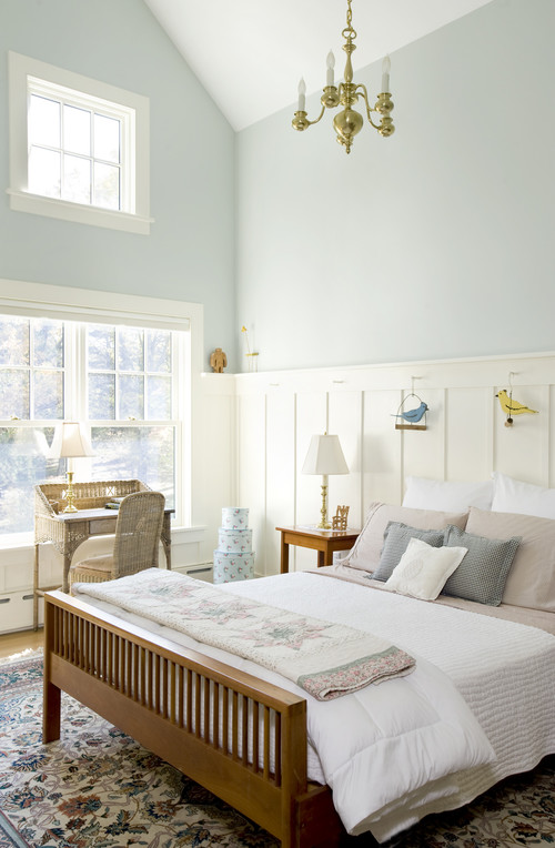 Blue and White Country Bedroom