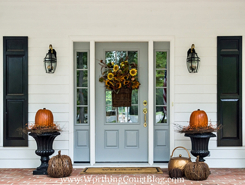 Pretty Fall Porch at Worthing Court