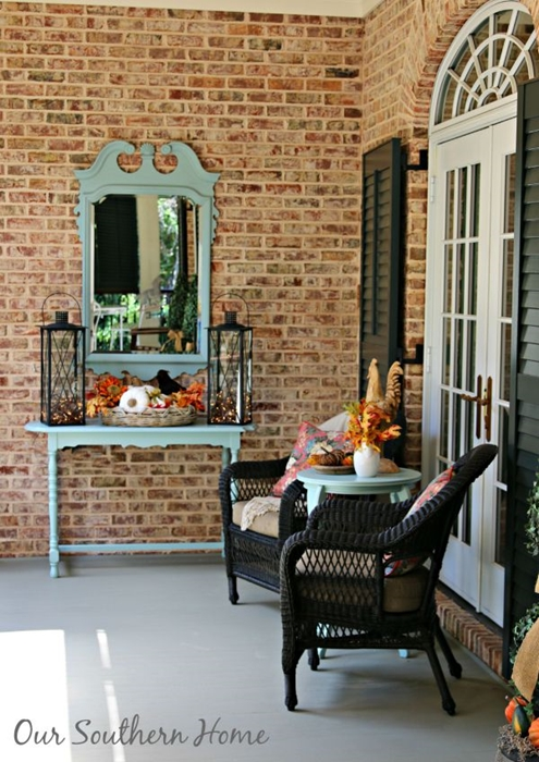 Traditional Fall Porch at My Southern Home
