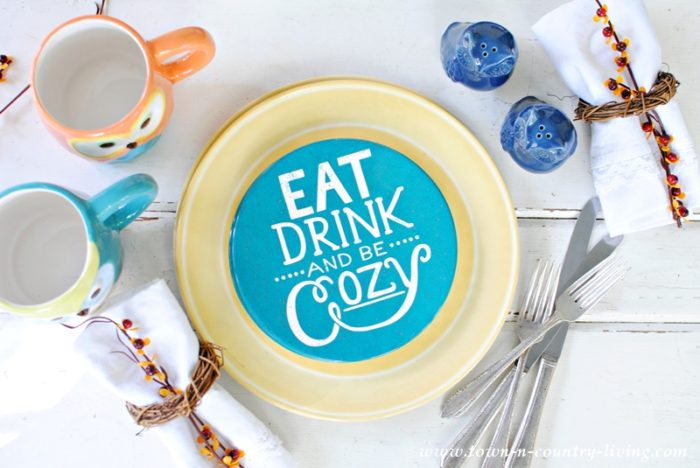 Eat Drink and Be Cozy Plates