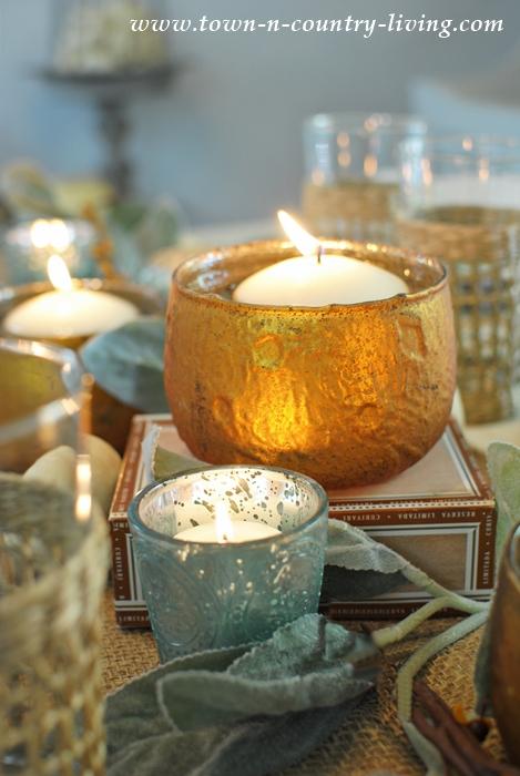 Mixed Metallic Votive Candleholders