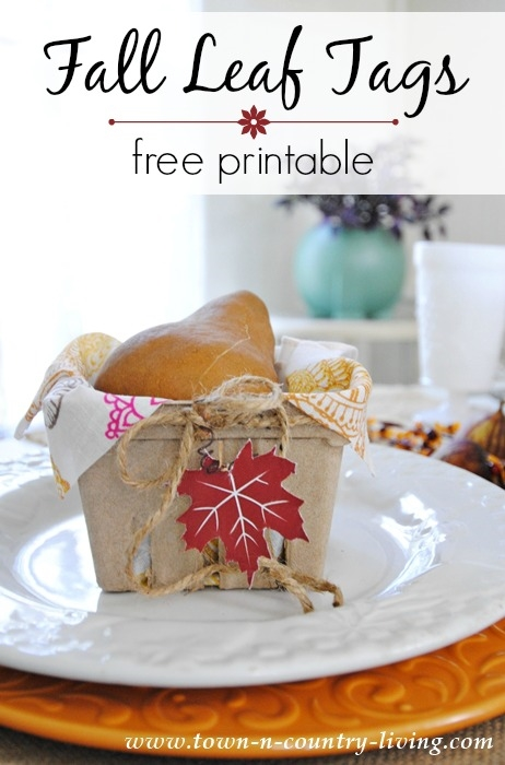 Free Fall Leaf Tag Printable