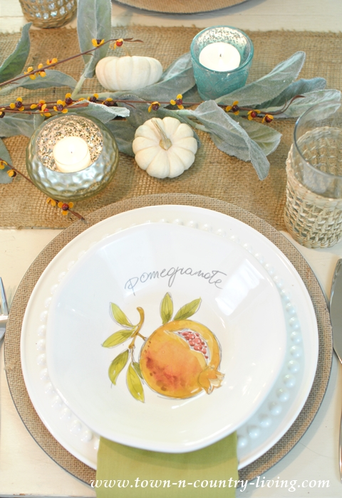A Collection of Fruit Inspired Bowls Create a Light and Neutral Fall Tablescape