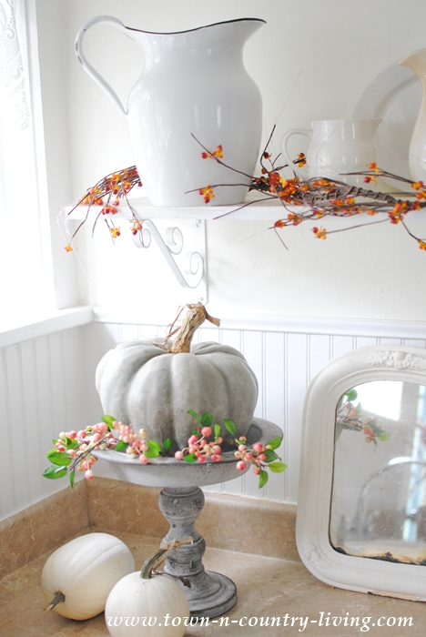 Simple fall decorating in the kitchen town country living