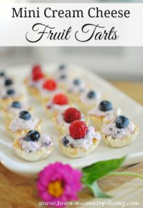 Mini Cream Cheese Fruit Tarts