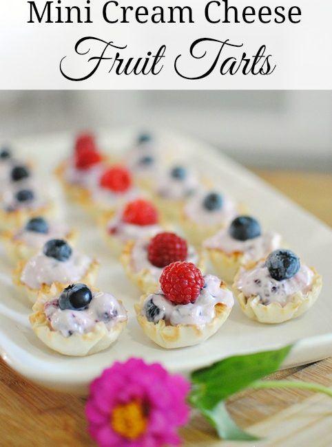Mini Cream Cheese Fruit Tarts made with Welch's Frozen Fruits