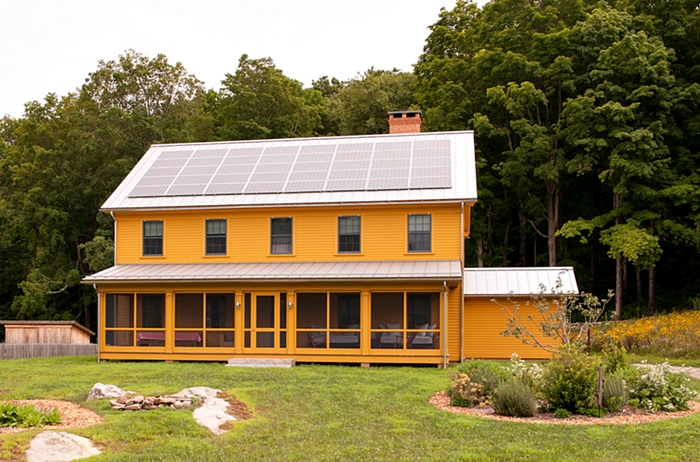 Connecticut Farmhouse In Mustard Exterior