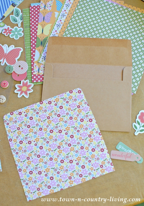 How to Customize Envelopes by Lining Them with Decorative Scrapbook Paper