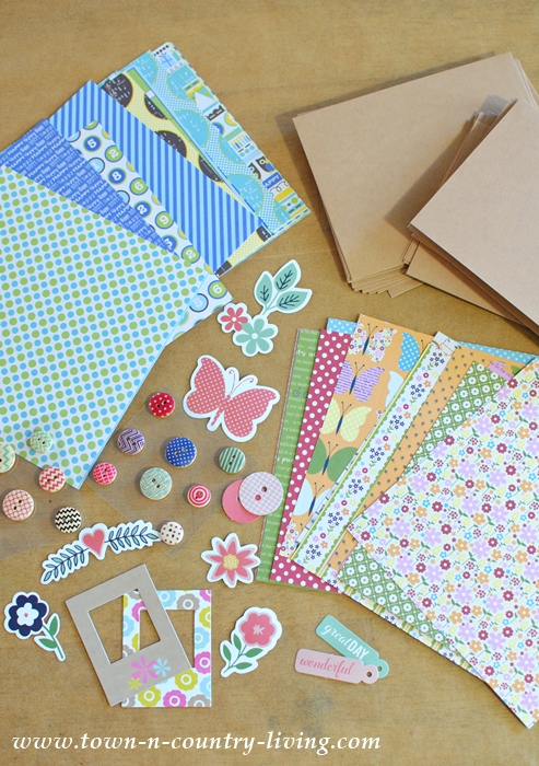 Supplies for Making Personalized Note Cards and Envelopes