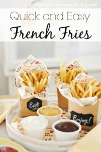 Quick and Easy French Fries with Dipping Sauces