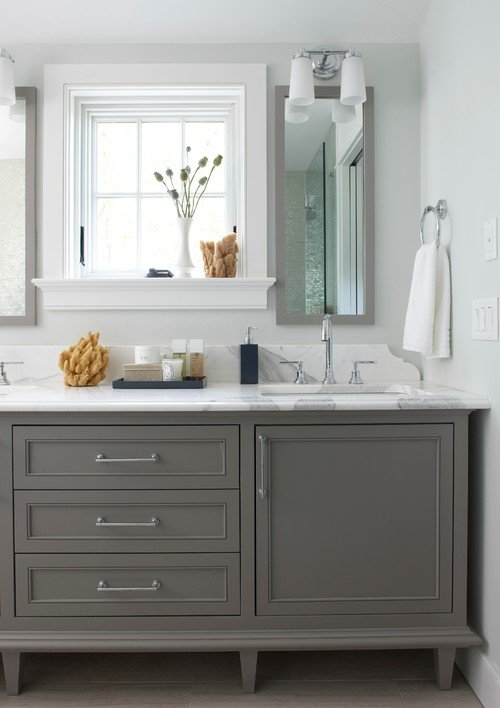 Stunning Gray Bathroom Vanity