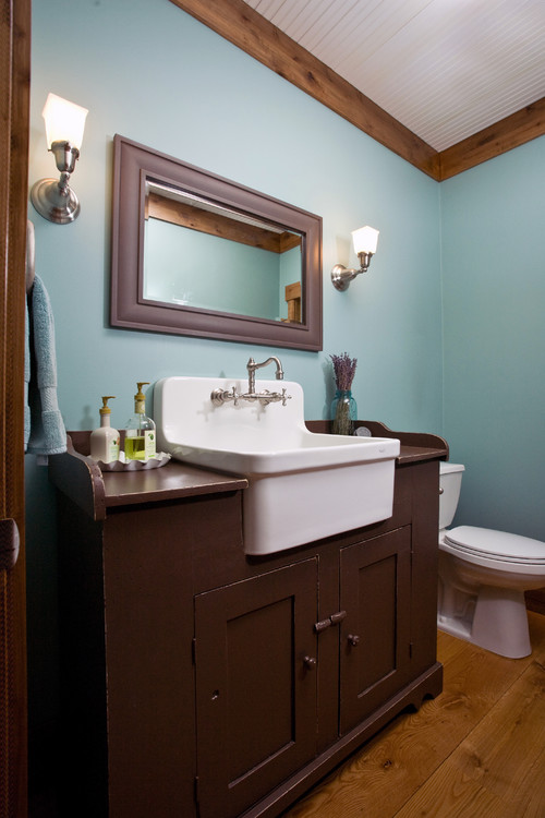 Simple Farmhouse Bathroom Vanities