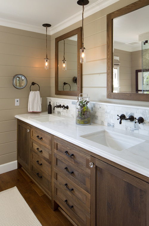 a collection of bathroom vanities - town & country living