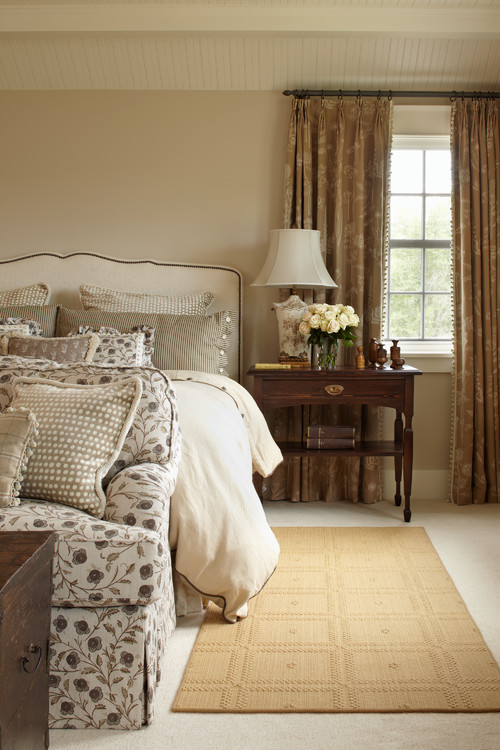 Traditional Bedroom in Country Neutrals