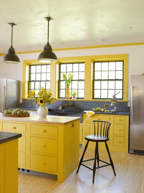 Yellow Farmhouse Kitchen