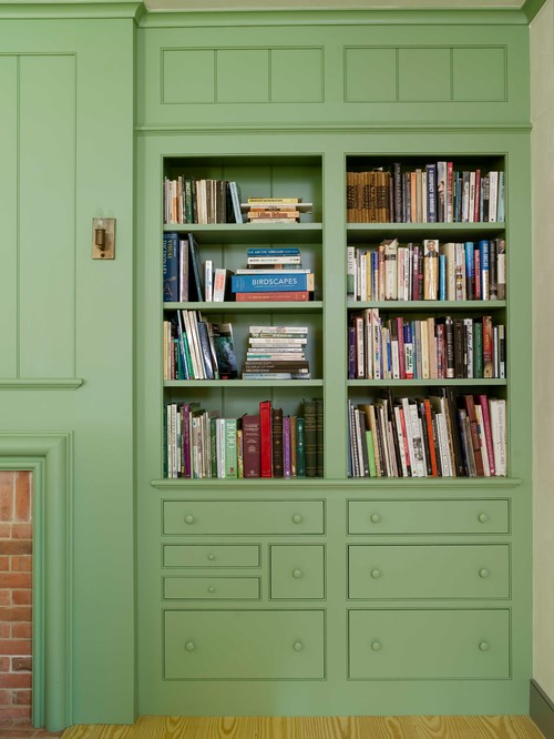 Built-In Bookcase in Connecticut Farmhouse
