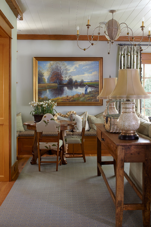 Farmhouse Living Room in Traditional Style