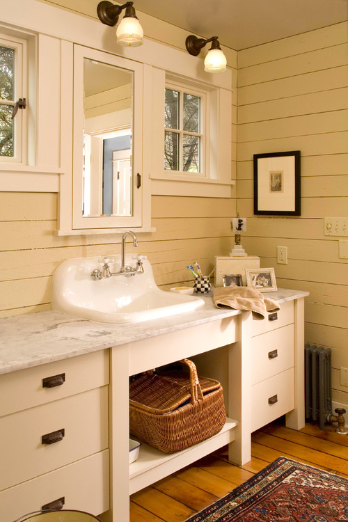A collection of bathroom vanities town country living - Small cottage style bathroom vanity design ...