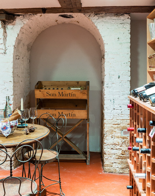 Wine Cellar in Colonial Farmhouse