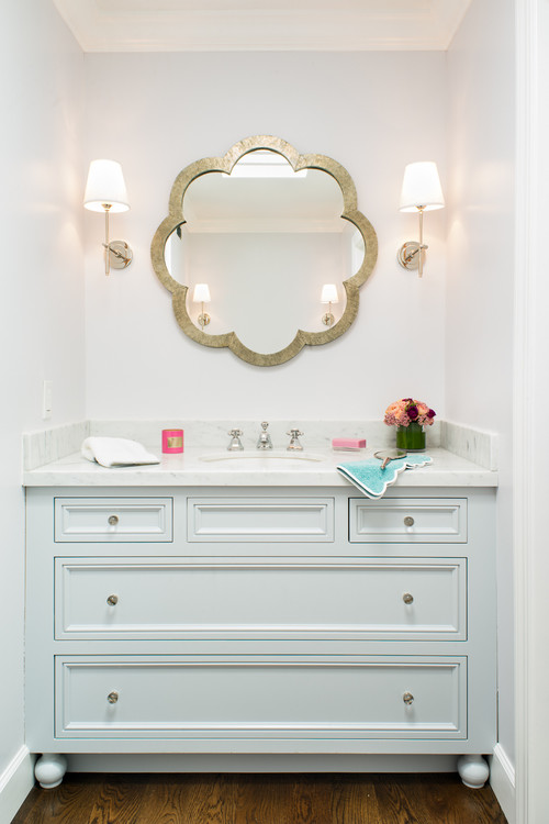 Pretty White Bathroom Vanity