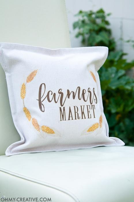 DIY Farmer's Market Pillow