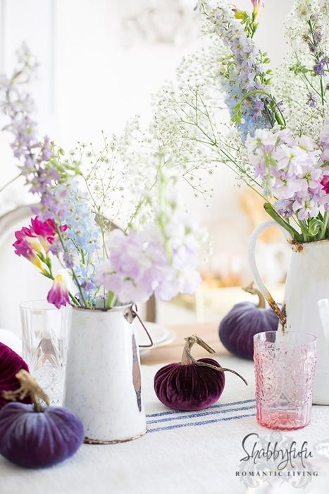 Romantic Fall Table Setting