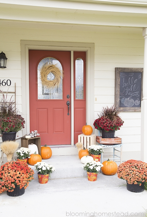 Fall Porch by Blooming Homestead
