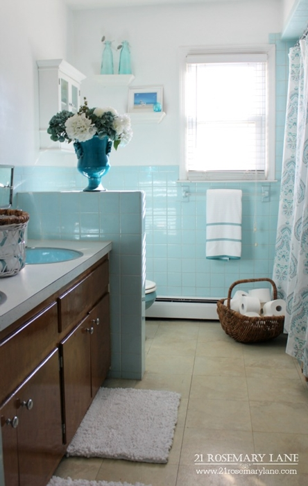 Guest Bathroom in Blue