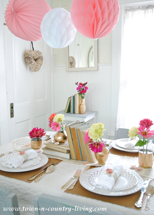 Book Lover's Table Setting for an Intimate Luncheon