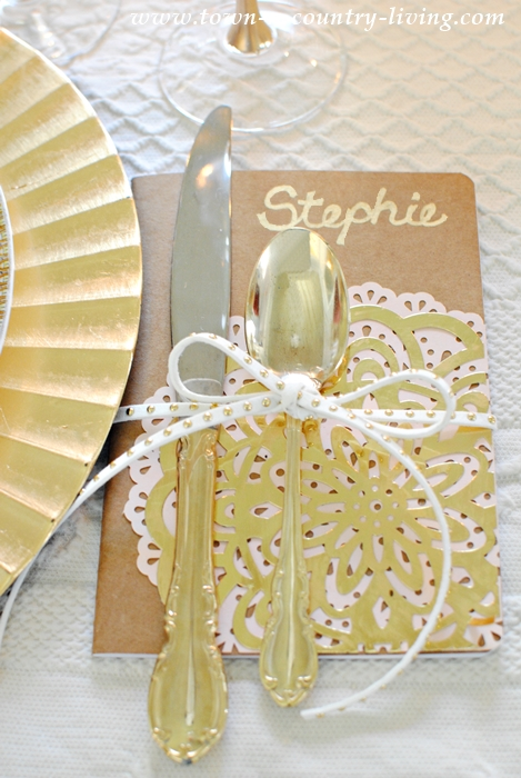 Thankful Books as Placecards