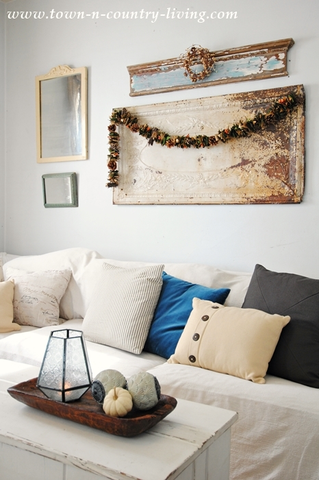 Fall Neutrals in the Family Room