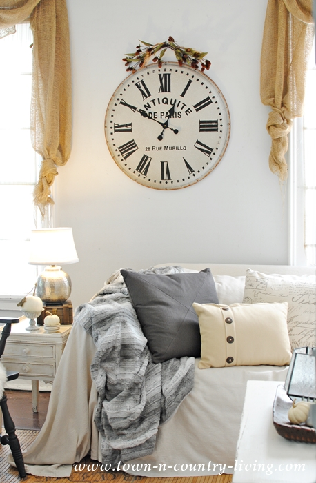 French Wall Clock for a Fall Family Room