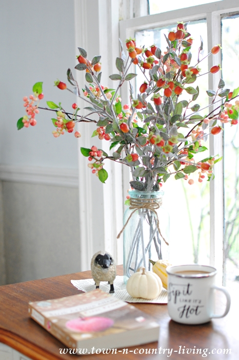 Fall Vignette with Branches of Berries