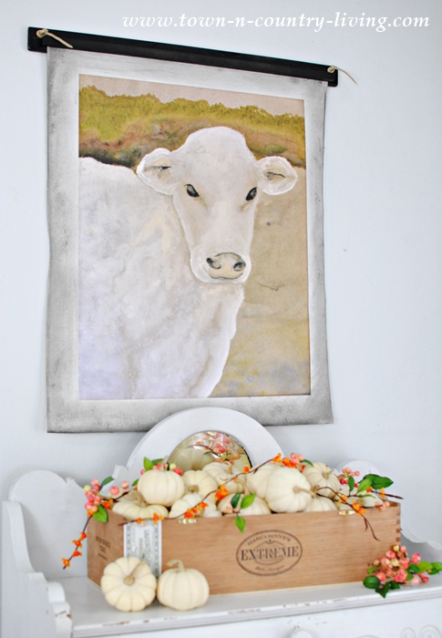 Cow Wall Hanging with Crate of Baby Boos