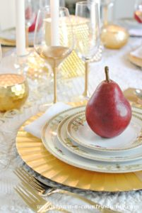 Gilded Tablescape for Fall Holiday Entertaining