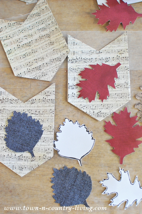 How to Make a Leaf Banner Using Chipboard