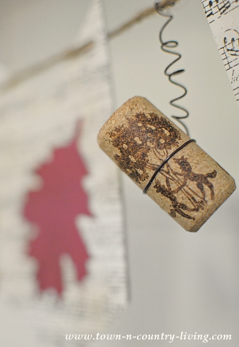 Adding wine corks to a simple banner to lend quirky appeal